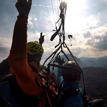 Gleitschirm Tandemfliegen in Bad Reichenhall, Berchtesgadener Land