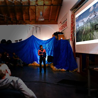 Vortrag Gleitschirm bei der Flugschule Chiemsee, @ Roman Hafenmayer