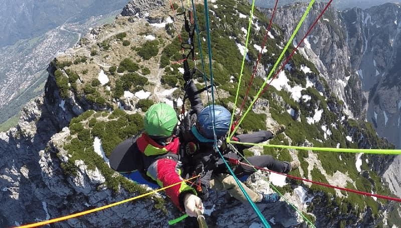 »Premium« Tandemfliegen über die Gipfel des Berchtesgadener Landes.